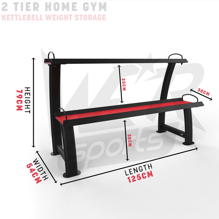 Home gym storage stand rack with dimensions