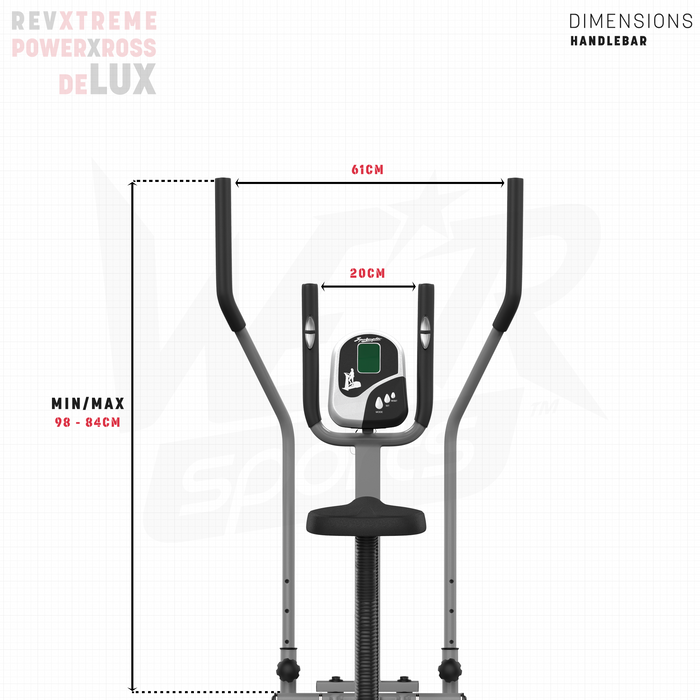 RevXtreme elliptical bike height and width dimensions
