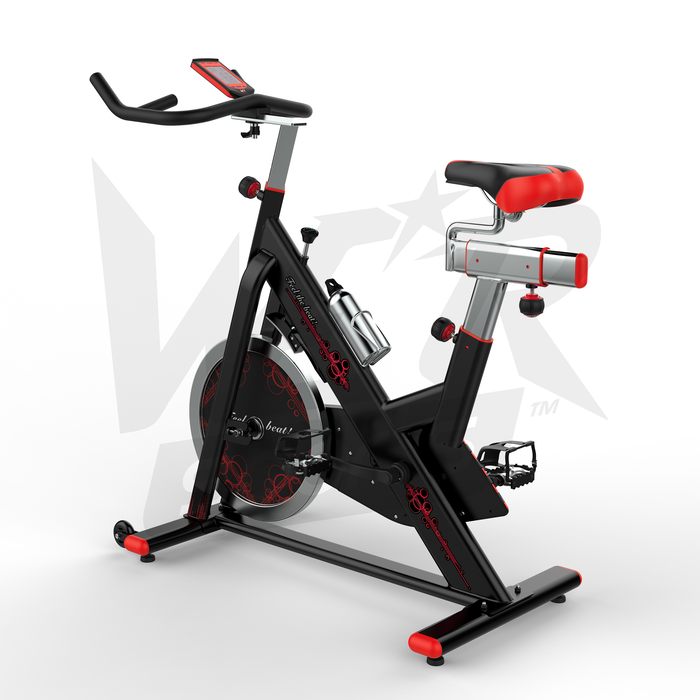 RevXtreme VenomX Indoor Cardio Spin Exercise Bike red and black