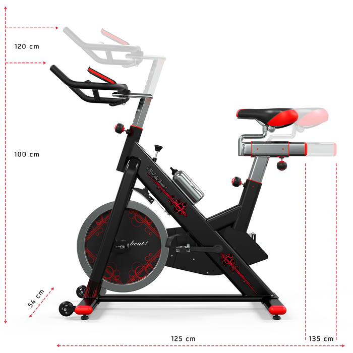 RevXtreme VenomX Indoor Cardio Spin Exercise Bike left view