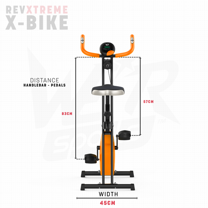 RevXtreme X-Bike handle to pedal distance