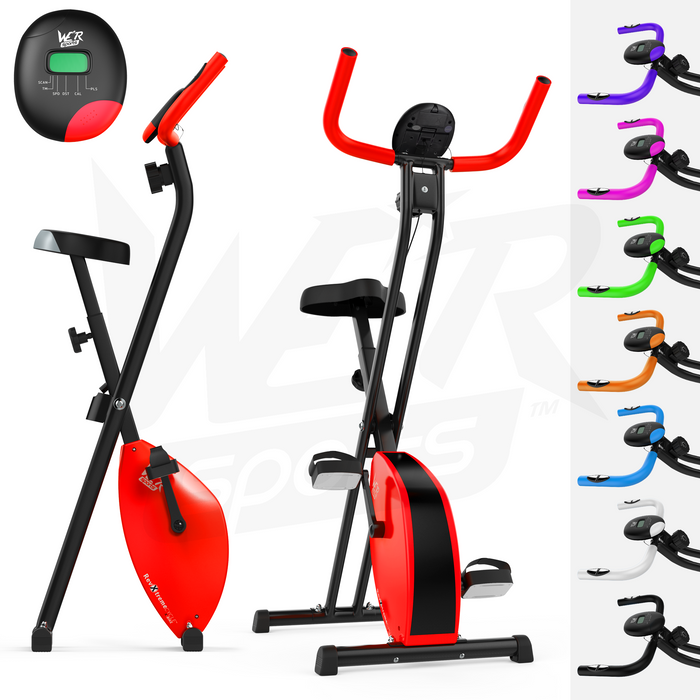 RevXtreme X-Bike Folding Magnetic Exercise Bike Indoor Cycle from WeRSports