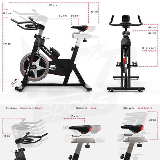 RevXtreme Xpower exercise bike dimensions