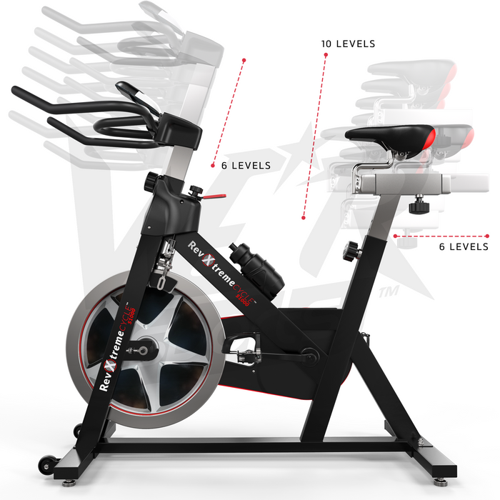 Adjustable multi-level exercise bike from RevXtreme