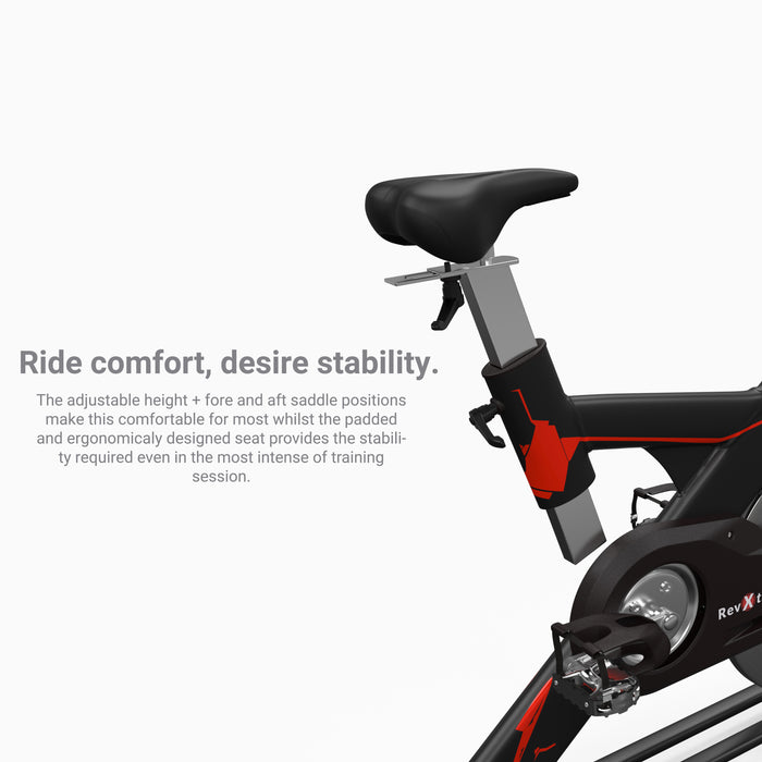 RevXtreme RS5000 Indoor Studio Spin Bike adjustable seat