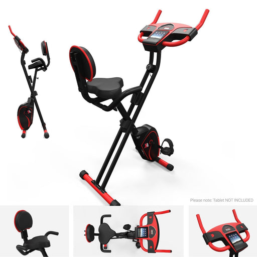 We R Sports Folding Magnetic Cardio Exercise Bike in red