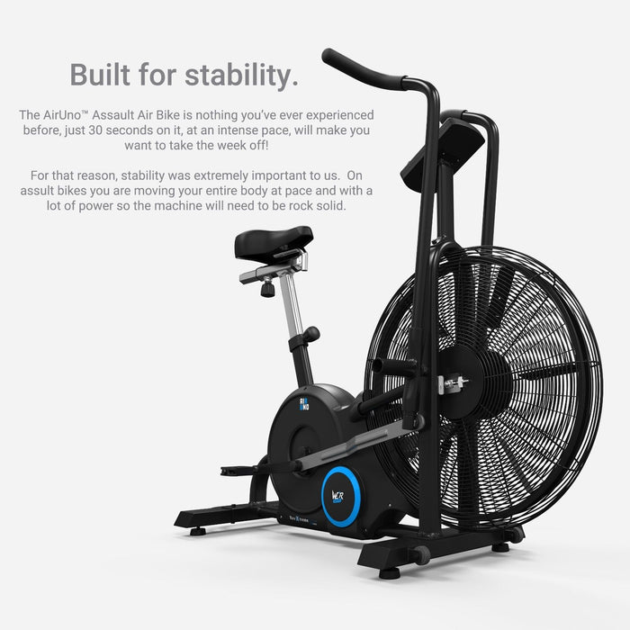 s l1600 13 airuno air assault exercise bike cardio machine fitness cycle heavyduty mma
