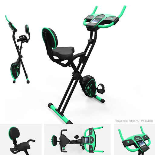 We R Sports Folding Magnetic Cardio Exercise Bike in green