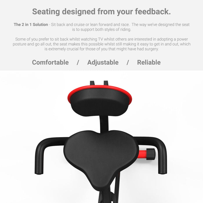 Folding Exercise Bike Magnetic Fitness Cardio Machine Cycle 2 in 1 Exercise Bike