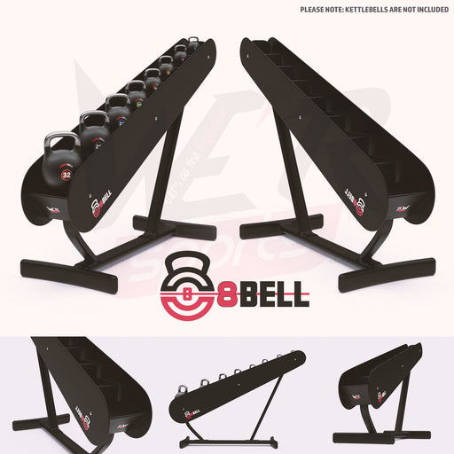 8Bell GDKR50 Kettlebell Storage Rack multiple images