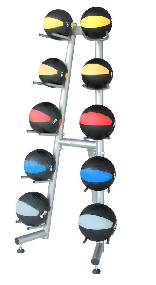 Commercial Medicine Ball Rack Holds 10 Balls Heavy Duty Gym Rack