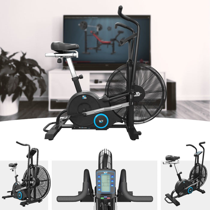 s l1600 7 airuno air assault exercise bike cardio machine fitness cycle heavyduty mma