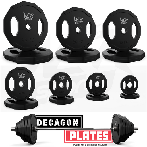 Rubber Dodecagon 2 Inch 5cm Olympic Weight Plates