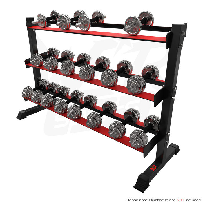 Dumbbell rack with weights