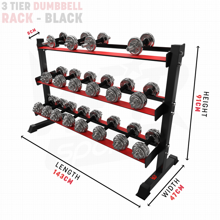 Dumbbell rack size dimensions