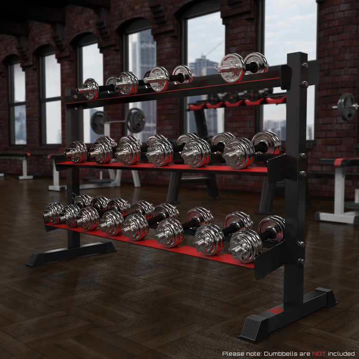 3 Tier dumbbell rack for weight training