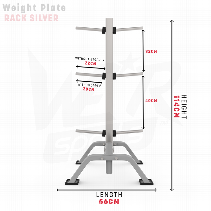WeRSports weight plate rack dimensions