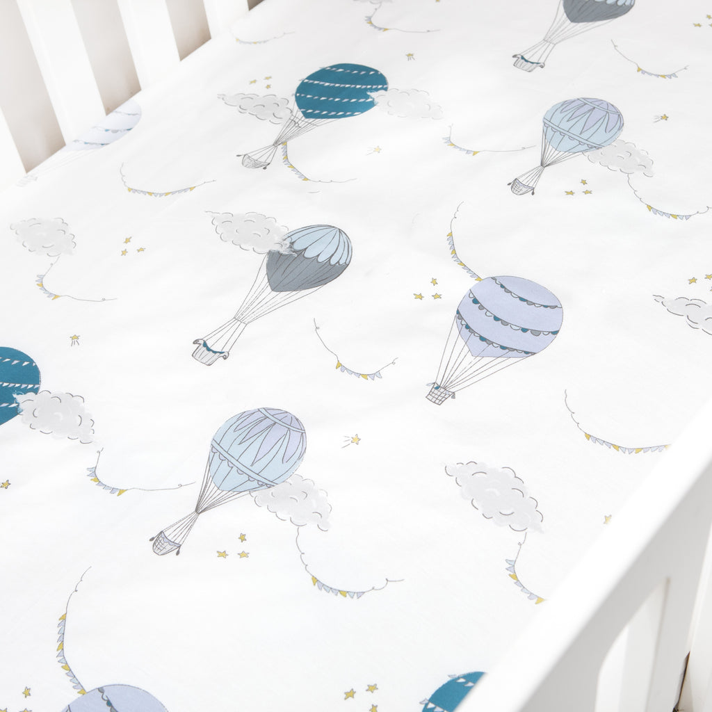 Touch The Sky Crib Sheet - Blue