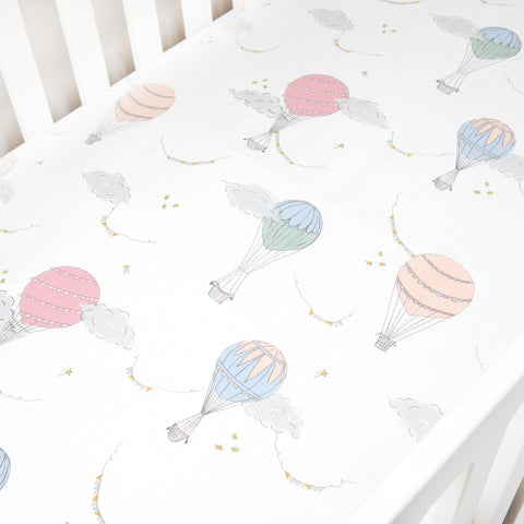 Touch The Sky Crib Sheet - Pink