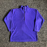 MUSE THRIFT - Purple Fleece Quarter Zip Sweater