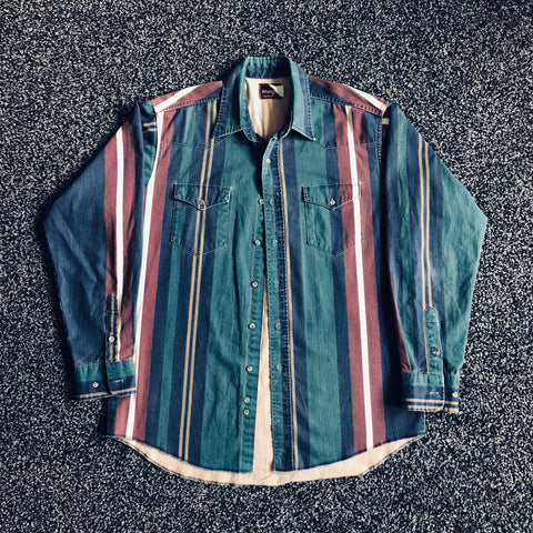 MUSE THRIFT - Wrangler Striped Button-Up Shirt
