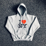 MUSE THRIFT - I Love NY Graphic Hoodie