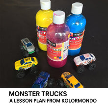 "Load image into Gallery viewer, Lesson Plan: ""Monster trucks"". PDF, digital delivery"