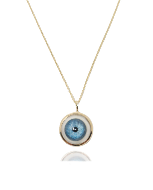 Large 14k Gold Eye Pendant-Fine Jewelry-RhysKelly.com