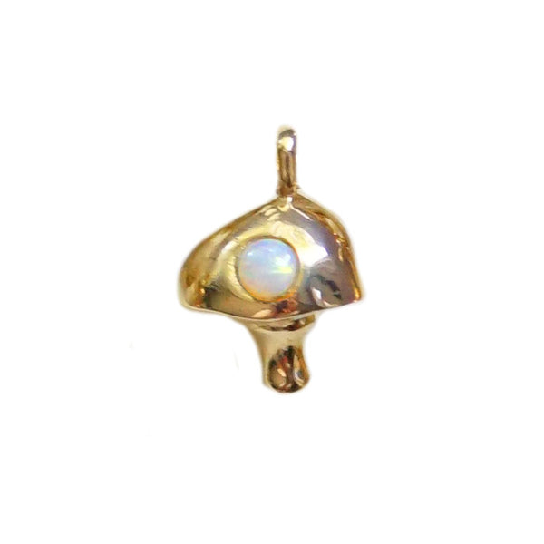 Gold Plated Shroom Charm
