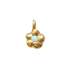 Gold Plated Flower Power Charm