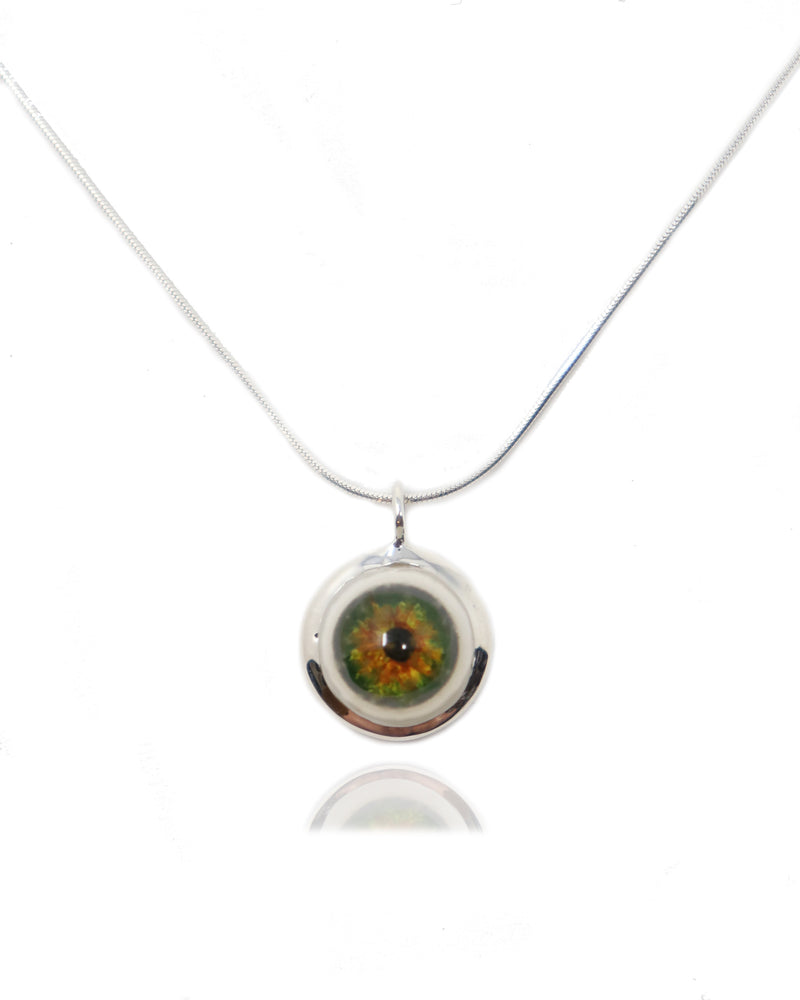 Large Sterling Silver Eye Pendant-Fine Jewelry-RhysKelly.com