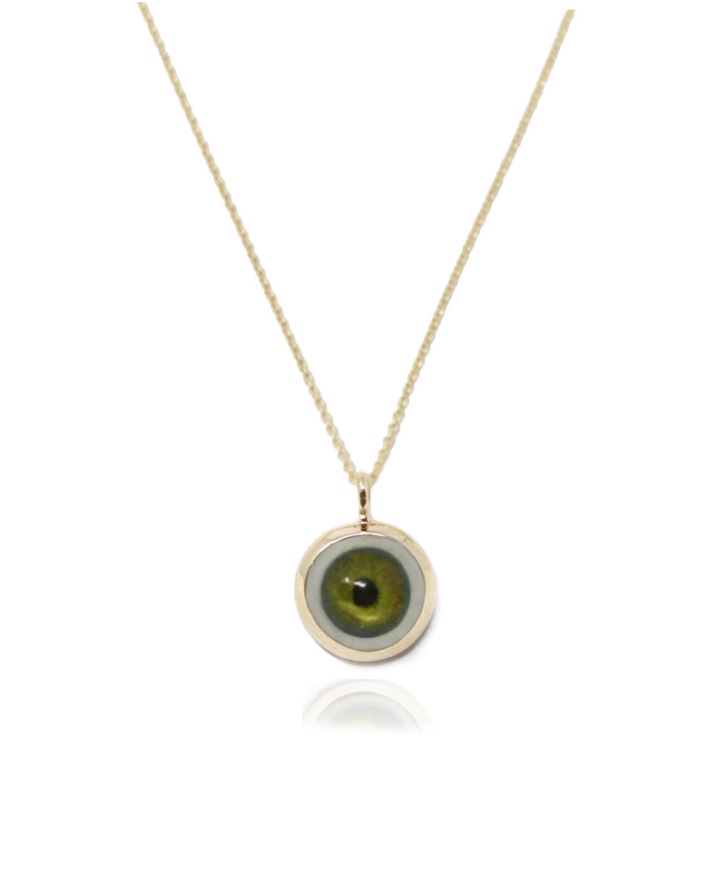 Medium 14k Gold Eye Pendant