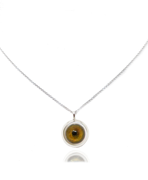 Medium Sterling Silver Eye Pendant