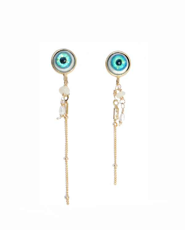 Lucid Jellyfish Earrings - Gold Plated