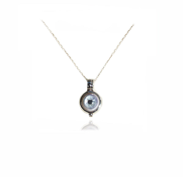 Small Locket Eye Pendant