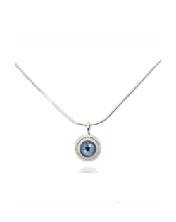 Small Sterling Silver Eye Pendant