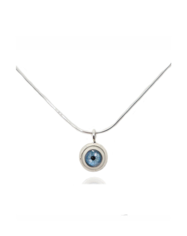 Small Sterling Silver Eye Pendant-Fine Jewelry-RhysKelly.com