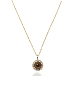 Small 14k Gold Eye Pendant-Fine Jewelry-RhysKelly.com