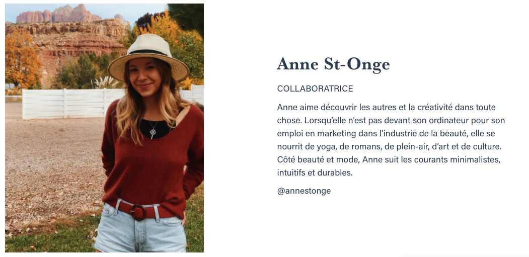 Bio Anne St-Onge Beauties Lab