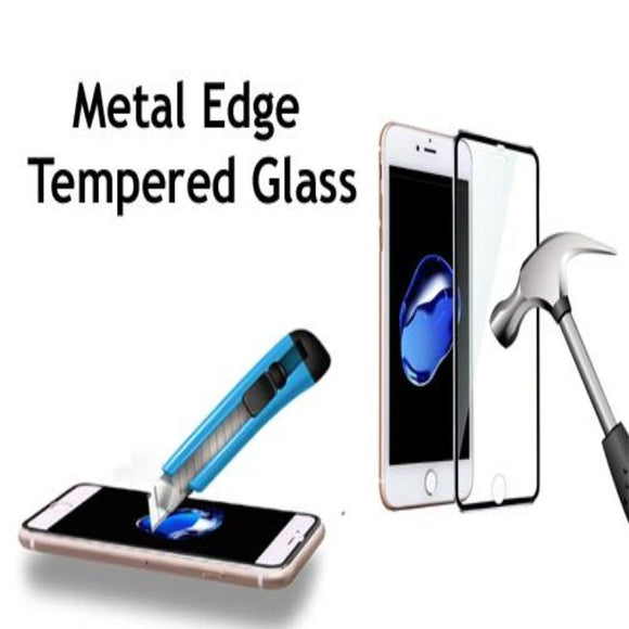 3D Curved Metal Edge Tempered Glass Screen Protector For iPhone 11 Pro Max/ iPhone 11 Pro/ iPhone 11/ iPhone XS Max/XR/XS/X/8/8 Plus/7/7 Plus/6/6 Plus/6S/6S Plus - Compas Shopping