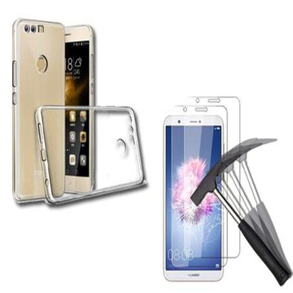 Clear Gel Case & Tempered Glass For Various Huawei Phone Models - Compas Shopping