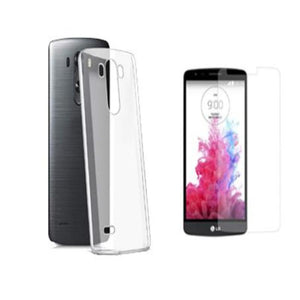 Clear Gel Case & Tempered Glass For Various LG Phone Models - Compas Shopping