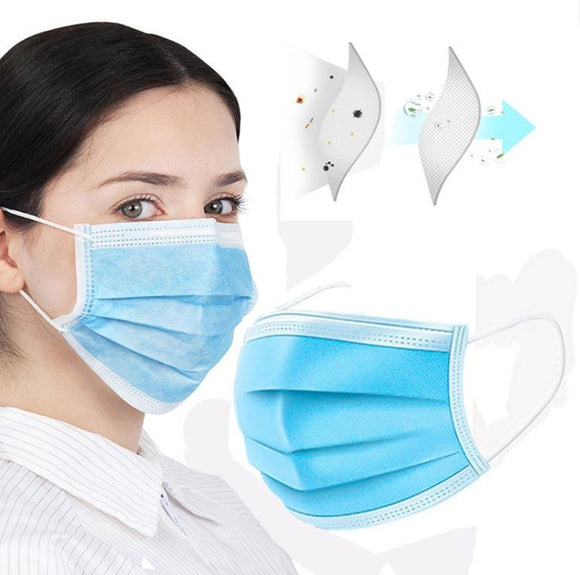 Disposable Surgical Face Mask Dust Germ Proof Medical Hygiene 3 Ply UK - Compas Shopping