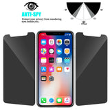 Privacy Anti-spy Tempered Glass Screen Protector Film For Apple iPhone 11 Pro Max/ iPhone 11 Pro/ iPhone 11/ iPhone XS/ X/ 8 Plus/ 8/ 7 Plus/ 7/ 6S Plus/ 6 Plus/ 6S/ 6/ 5S/ 5 - Compas Shopping