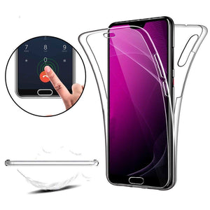 360° Front And Back Clear TPU Gel Cover Case For Various Huawei Models - Compas Shopping