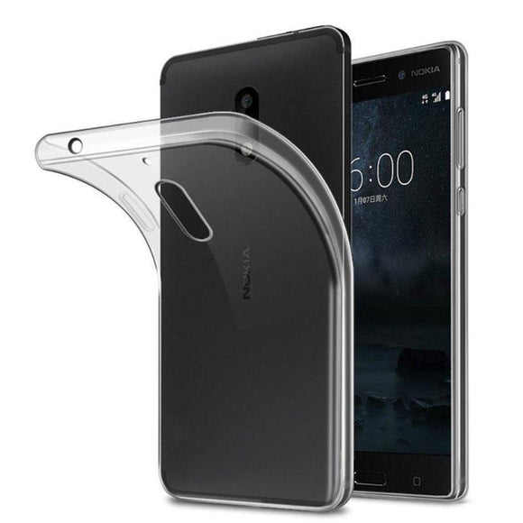 Transparent Clear Back Gel Case Silicone TPU Skin Cover For Various Nokia Phone Models - Compas Shopping