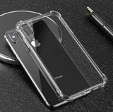 Clear TPU Jelly Skin Corner Bumper Shockproof Case Cover For iPhone; Samsung; LG Phone; Huawei - Compas Shopping