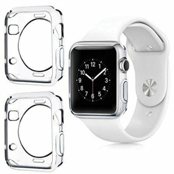 Transparent Clear Back Gel Case Silicone TPU Skin Cover For Apple iWatch 2/3/4 series - Compas Shopping