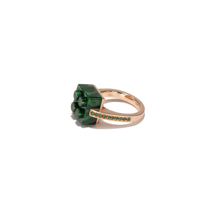 The Bare Block Ring - Jade