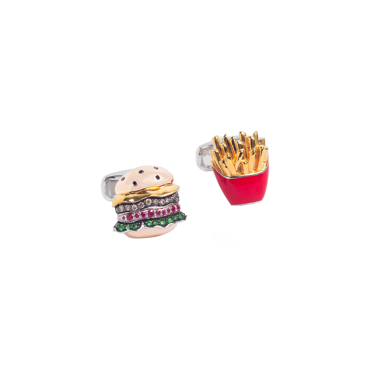 Burger & Fries Cufflinks